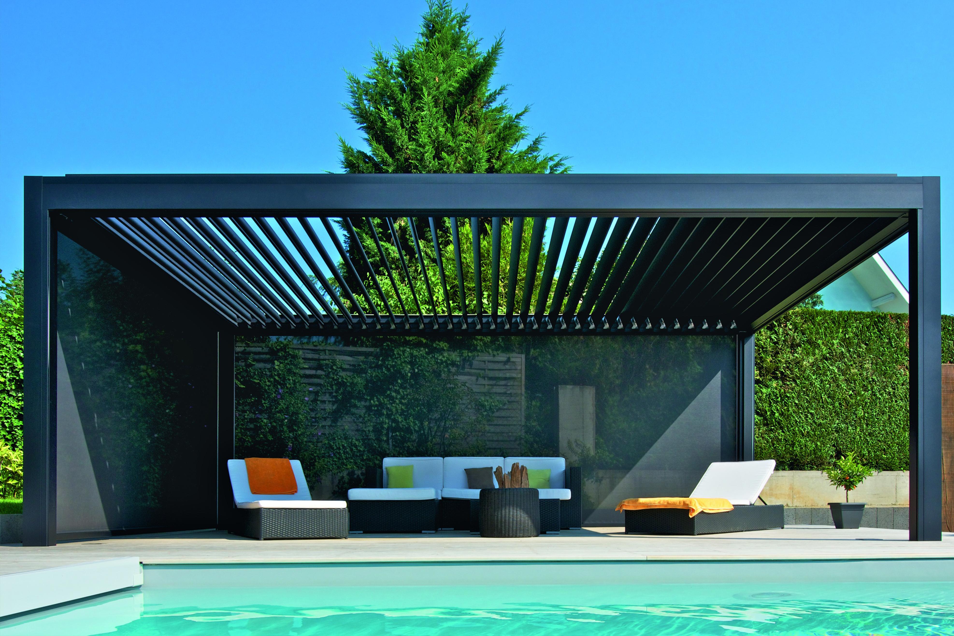 Lamellendach für Terrasse und Garten gibt es bei GÜTLER.