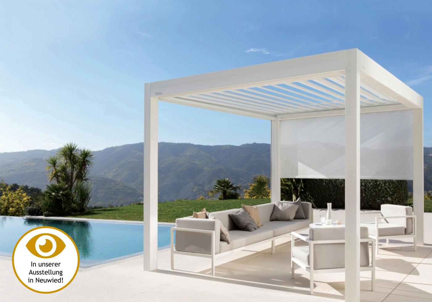 Super Lamellendach für Terrasse und Garten gibt es bei GÜTLER. EF62