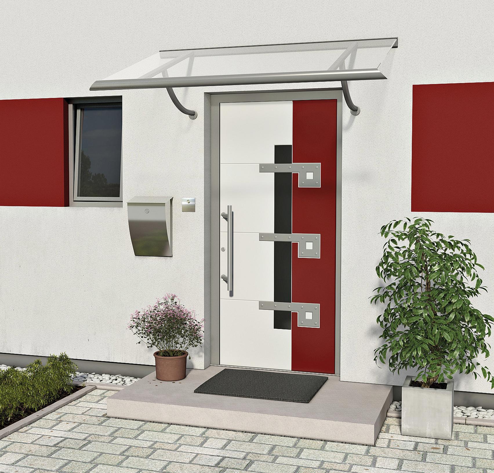 das passende vordach zur haust r gibt es hier. Black Bedroom Furniture Sets. Home Design Ideas